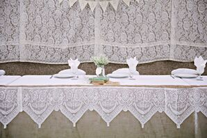 Lace-Lined Reception Tables