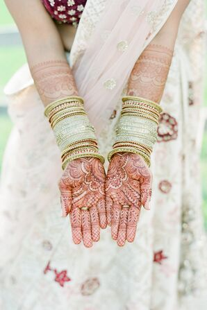 Indian Bride Wearing Henna and Bangles