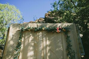 Natural Garland Wedding Arch