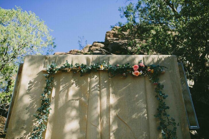 Natural Garland Wedding Arch