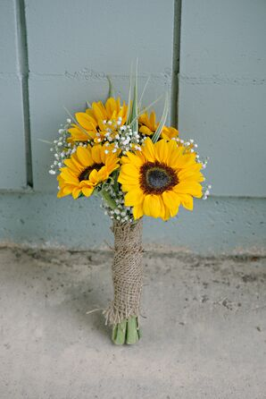 Sunflower and Baby's Breath Bouquet