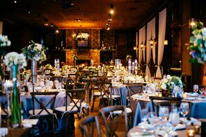 A Chic Rustic Silver and Ivory Reception