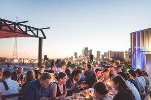 Rooftop Reception at the Mitchell Lofts in Dallas, Texas