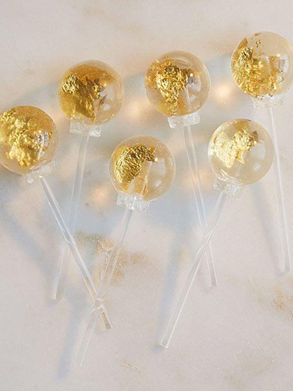 edible gold lollipops