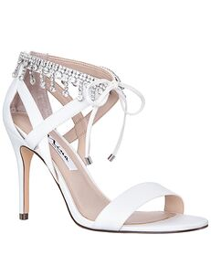 Nina Bridal Collina_Ivory-Satin Black, Gold, Silver Shoe