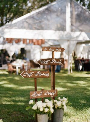 Wood Directional Signs