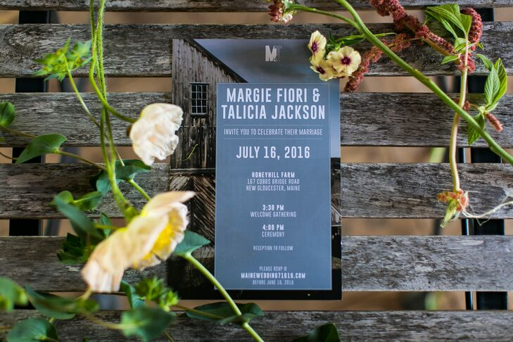 Modern Slate-Gray Invitations