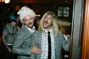 Wigs at Paramour Estate Wedding Reception in Los Angeles