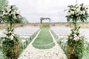Ceremony Aisle with Flower Petals at Bella Collina in Florida