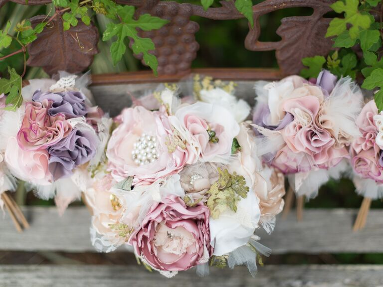 These bouquets will change what you think about silk flowers pastel bridal bouquets made from silk flowers mightylinksfo