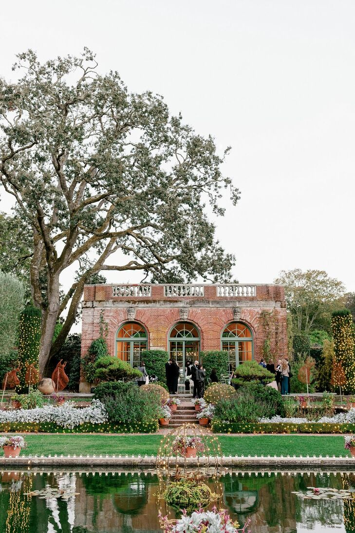 Outdoor Garden at Filoli Historic House and Garden in Woodside, California