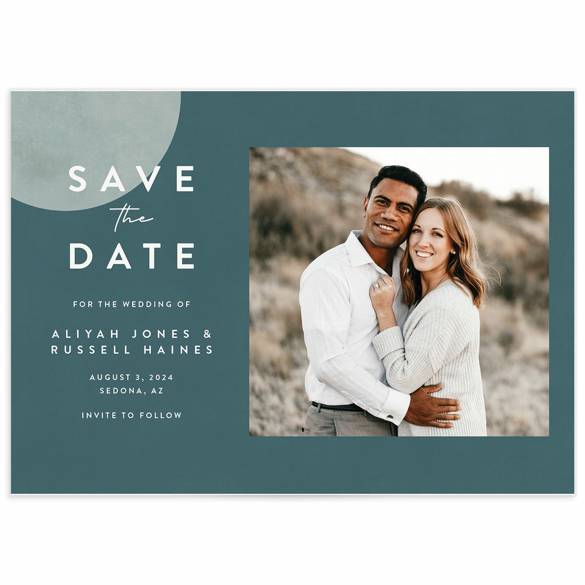 A Save the Date from the Abstract Hills Collection