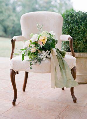 Moss Green Fabric Bouquet Wrap