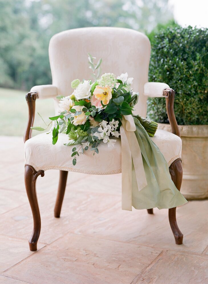 Moss Green Fabric Bouquet Wrap