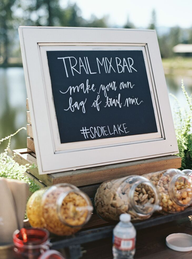 Upon arrival, guests were greeted with a build-your-own-trail-mix bar.