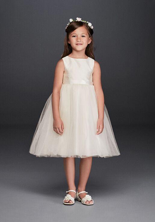 David's Bridal Flower Girl David's Bridal Style OP218 Ivory Flower Girl Dress