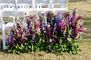 Bohemian Lavender Aisle Decoration