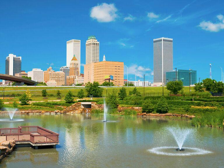 Tulsa Oklahoma wedding venue city view