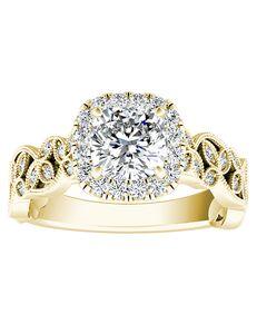 DiamondWish.com Vintage Princess, Asscher, Cushion, Emerald, Marquise, Pear, Round, Oval Cut Engagement Ring