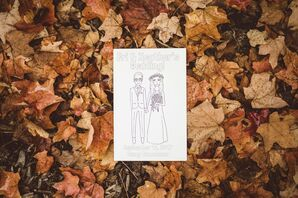 Custom Coloring Book Favors with Illustration
