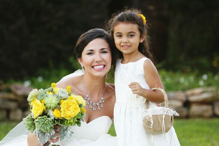 Alyssa and Trevor's Sweet Flower Girl