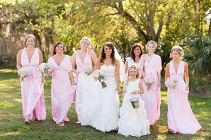 Convertible Pink Bridesmaid Dresses