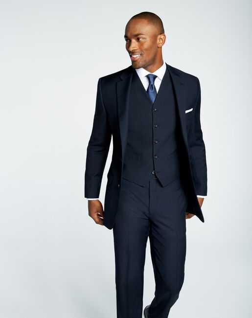 00d7d6d2 Men's Wearhouse Pronto Uomo Platinum® Navy Suit Wedding Tuxedo | The ...