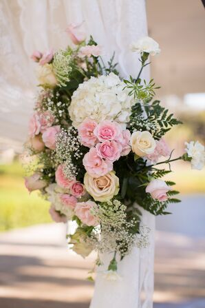 Lush Pink Floral Ceremony Backdrop