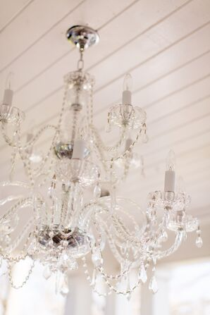 Elegant Crystal Chandelier Reception Decor