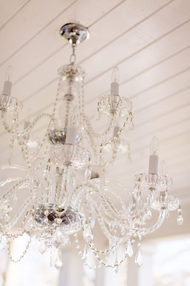 Elegant Crystal Chandelier Reception Decor