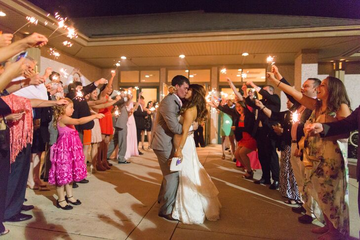Amanda and Chad's Sparkler Exit