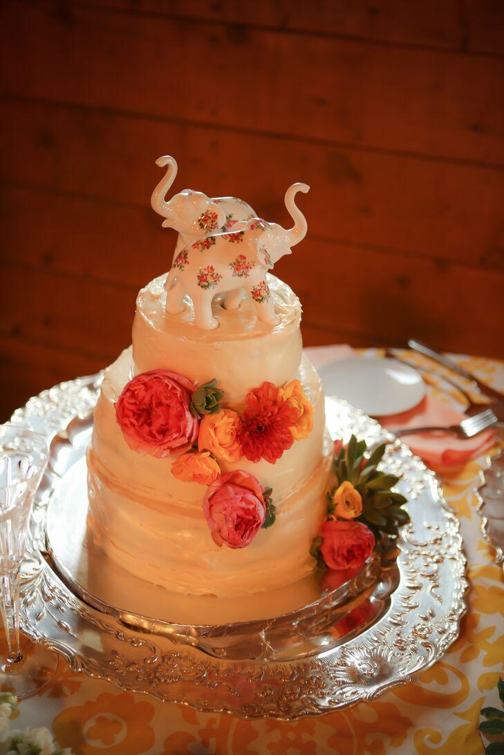 Diy White Floral Wedding Cake