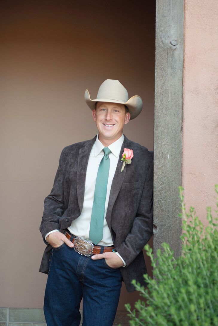 061693c4799 All the groomsmen and the groom wore Kimes Ranch Jeans with corduroy brown  jackets