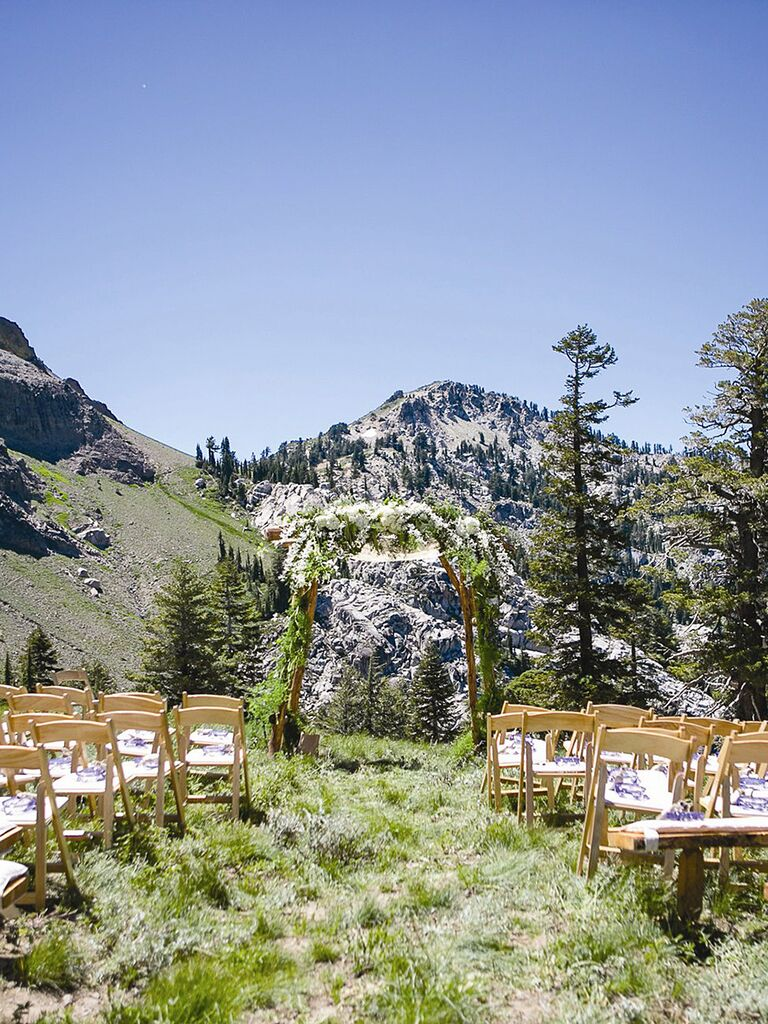 24 breathtaking ceremony locations with insane mountain views the most beautiful mountainside wedding locations squaw valley stables california junglespirit Images