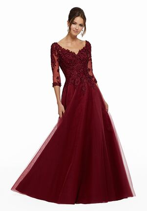 MGNY 72031 Red Mother Of The Bride Dress