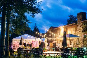 Outdoor Wedding Reception at Ski Tip Lodge