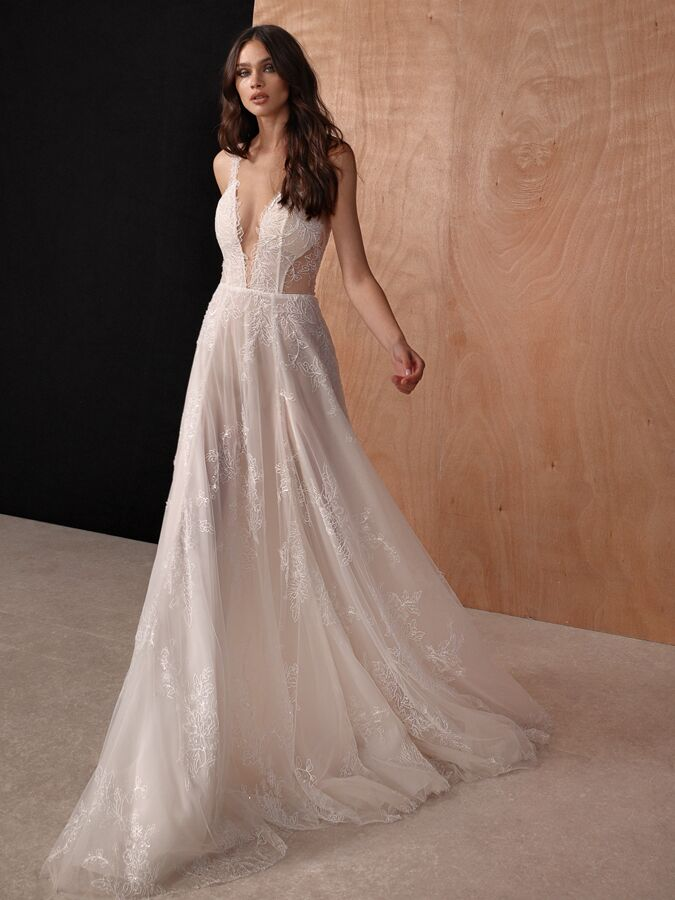 Gala by Galia Lahav lingerie-inspired A-line wedding dress