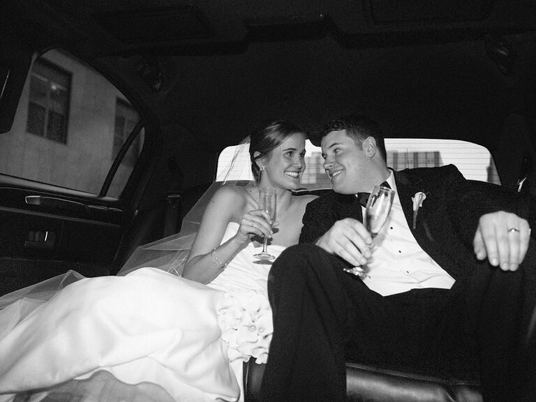 Kristen Maxwell Cooper And Husband On Wedding Day