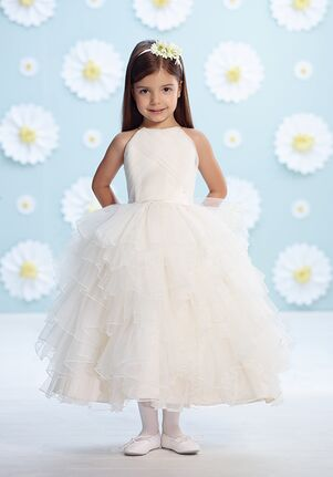 c5ca36fbd Satin Flower Girl Dresses | The Knot