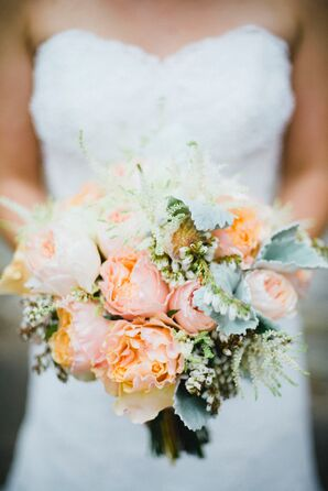 Garden Rose and Ranunculus Bridal Bouquet