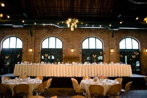 High Ceiling and Exposed Brick Reception