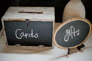 DIY Chalkboard Card Box