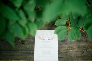 Simple and Elegant Wedding Program