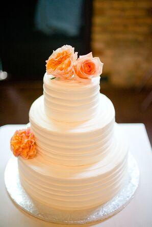 Three-Tier White Vanilla Wedding Cake