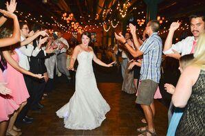 Bride on Dance Floor at Reception