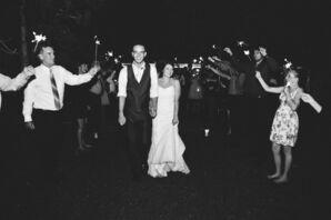Bride and Groom Sparkler Send-Off