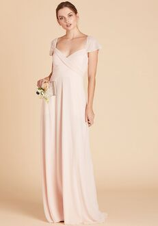 Birdy Grey Spence Convertible Dress in Pale Blush V-Neck Bridesmaid Dress