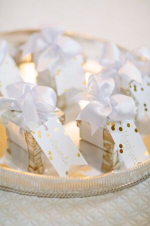Elegant White and Gold Bridesmaid Gifts