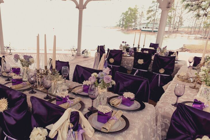Amazing Lace Linens And Purple Chair Covers Caraccident5 Cool Chair Designs And Ideas Caraccident5Info