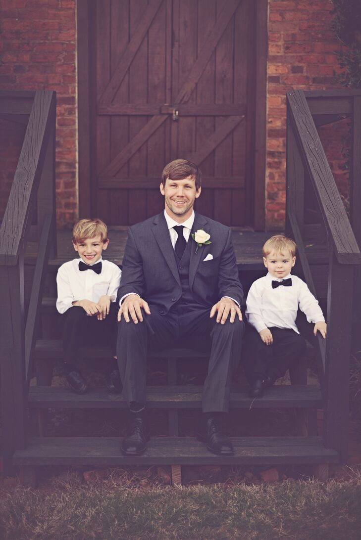 Formal Ring Bearers with Black Bow Ties